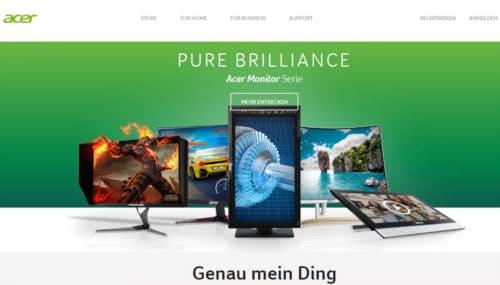 Acer-Startseite
