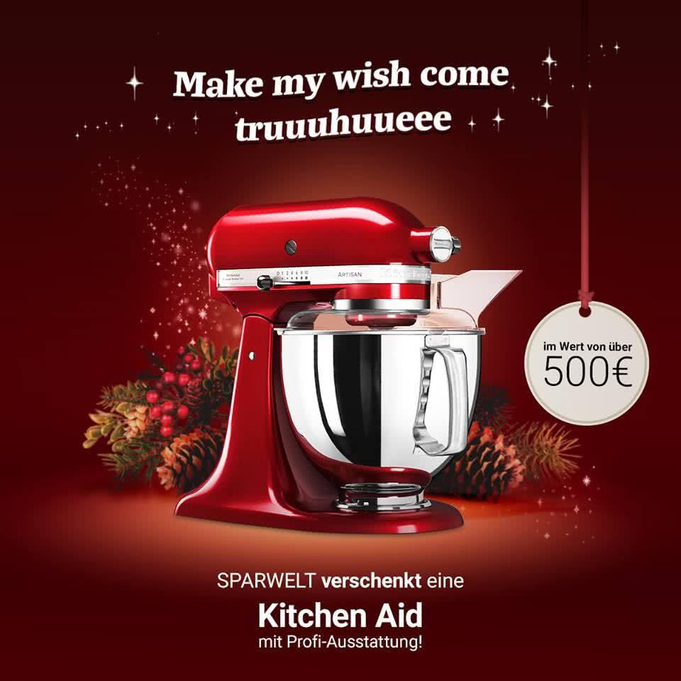 Facebook Gewinnspiel Sparwelt Kitchen-Aid