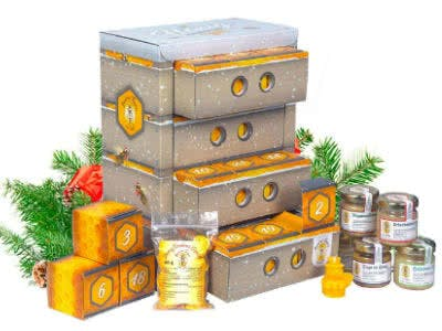 Adventskalender mit Honig