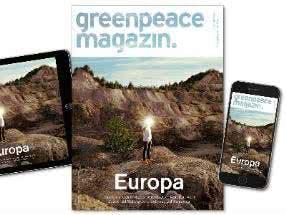 GRATIS Zeitschrift Greenpace Magazin