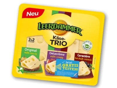 Geld-zurück-Aktion LEERDAMMER Käse-Trio