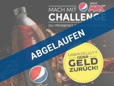 Geld-zurück-Aktion Pepsi Max
