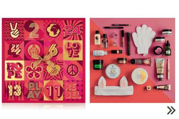 Adventskalender für Erwachsene: Kosmetika von The Body Shop