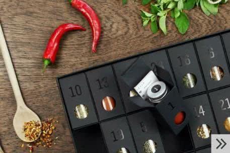 Adventskalender für Erwachsene: exquisite Gewürze für (Hobby)-Köche