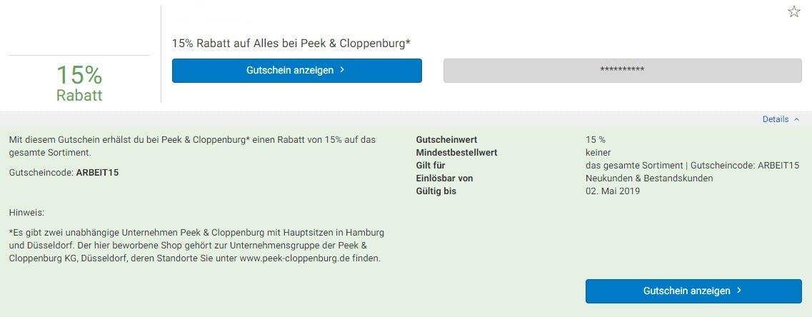 b75f7a93b2c75e Peek   Cloppenburg  Gutschein • 50% Rabatt • %monthShort% %year%