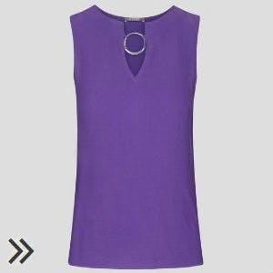 Violettes Oberteil von Orsay