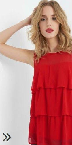 Rote Volantbluse von Orsay