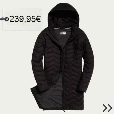 Steppjacke in Schwarz