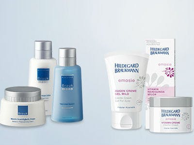 Bestellt jetzt Gratis-Proben von Gesichts- und Körperpflegeprodukten der Marke Hildegard Braukmann