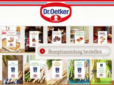 Jetzt Dr. Oetker Rezepthefte bestellen