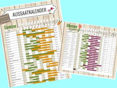 Jetzt Aussaatkalender von Gartenhaus bestellen