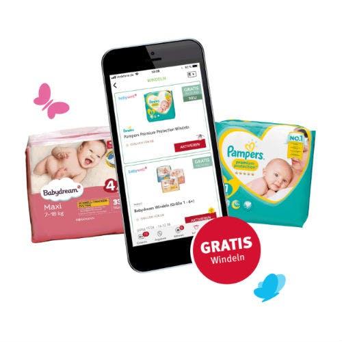 Gratis-Windeln für App-Nutzer sichern
