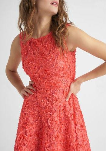 Kleid mit 3D-Stickerei