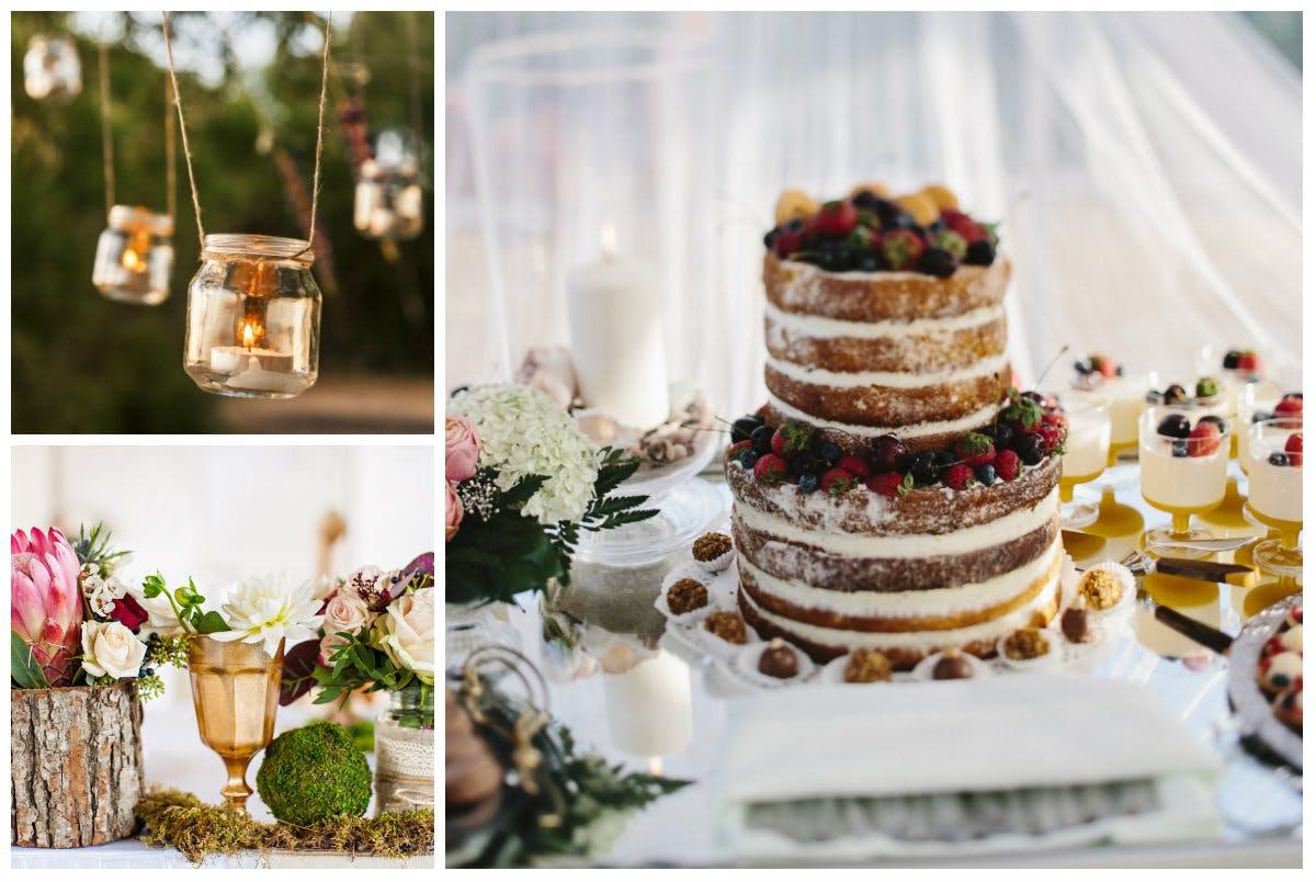 Styling-Elemente des Natural-Wedding-Stils
