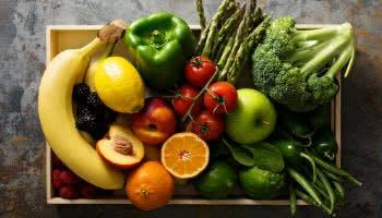 Obst und Gemüse in der Box