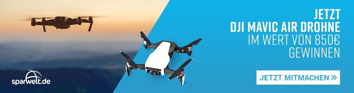Gewinnt jetzt bei SPARWELT eine DJI Mavic Air Drohne im Wert von 850€