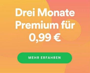 Spotify Premium für Neukunden: 3 Monate für nur 0,99€