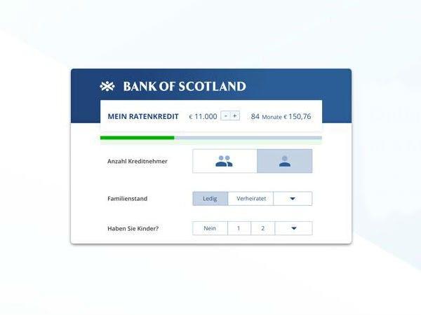 Jetzt Ratenkredit bei der Bank of Scotland abschließen und Gutschein sichern.