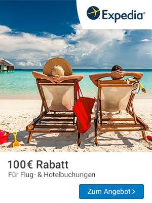 100€ Rabatt bei Expedia sichern.
