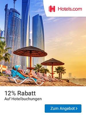 12% Rabatt bei Hotels.com sichern.