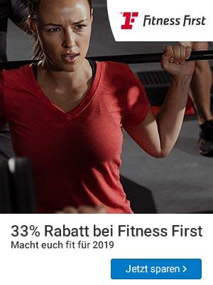Rabatt bei Fitness First.
