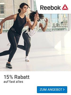 15% auf fast alles bei Reebok - perfekt für euren Urlaub.
