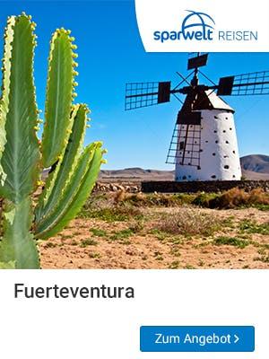Frühbucher Urlaub 2019 auf Fuerteventura bei SPARWELT Reisen buchen.