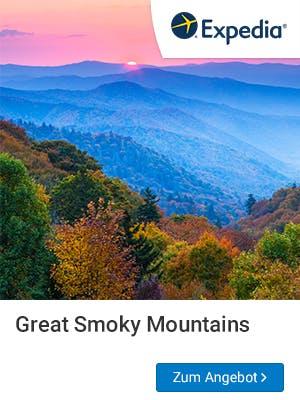 Romantische Bergromantik erwartet euch in den Great Smoky Mountains.
