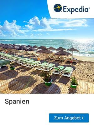 Frühbucher-Urlaub in Spanien bei Expedia buchen.