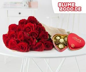 Rote Rosen als Geschenk zum Valentinstag