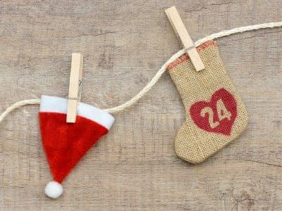 Nikolausmütze mit Adventskalender-Türchen