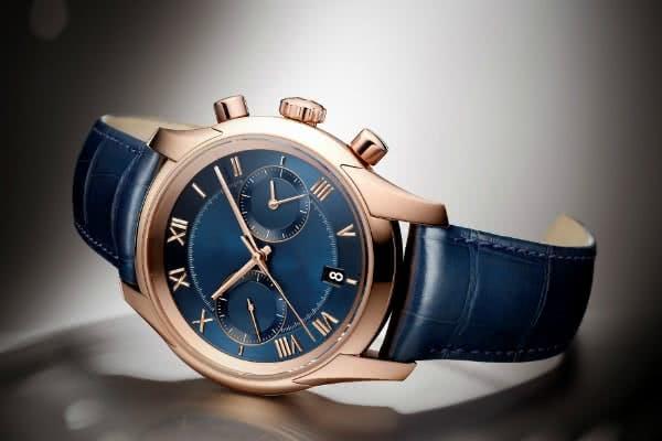Stylische Armbanduhr in Blau