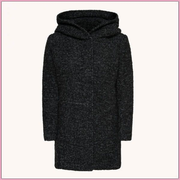 Cocooning-Kleidung für Draußen: Only Woll-Mantel