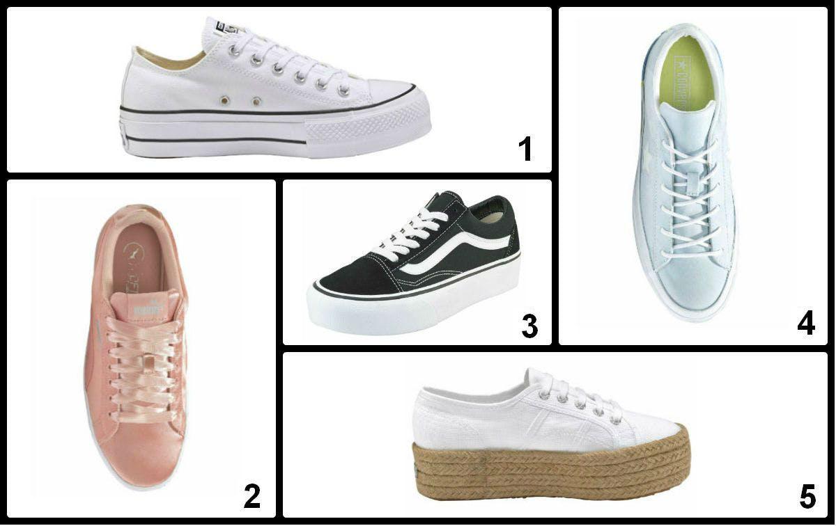 Chucks, Vans und Puma: Coole Plateau Sneaker gibt es von allen Top-Marken.