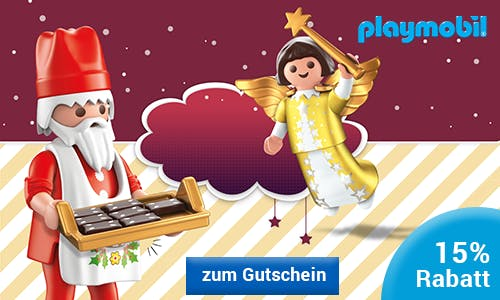 Playmobil-Gutschein für die Weihnachtseinkäufe nutzen