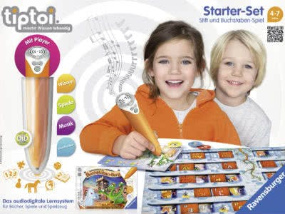 Kinder werden spielerisch gefördert dank tiptoi®-Spielen