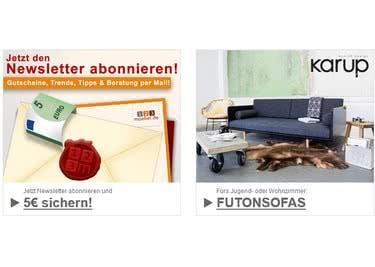 Abonniere den Newsletter von 123möbel und lasse dich über Rabattaktionen informieren