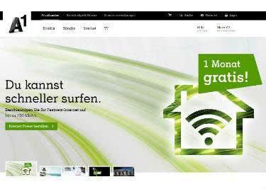 A1.net-Startseite