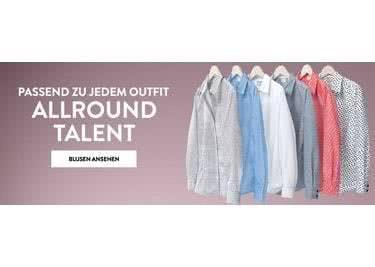 Auf adler.de shoppst du nicht nur aktuelle Trends sondern auch Klassiker wie Blusen.