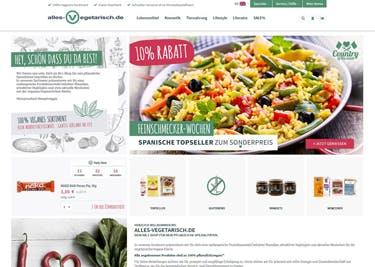 alles-vegetarisch.de: 100% vegetarisches Sortiment
