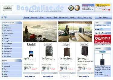 Taschen und Koffer mit einem BagsOnline-Gutschein preiswert shoppen
