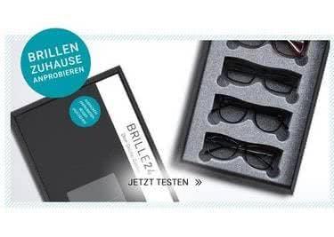 Brillen in Spezialverpackung zur Anprobe daheim