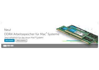 Crucial bietet dir auch für die Rechner von Apple kompatible Arbeitsspeicher an