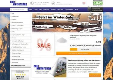 Dein-Klettershop bietet Gutscheine und Rabattaktionen