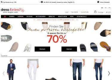 Angebote mit bis zu 70% Rabatt auf der Startseite von dress-for-less 92843e1441