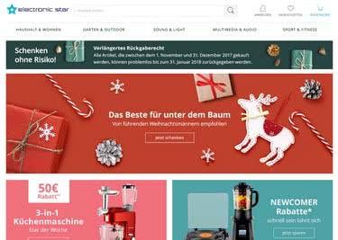 Shoppe Elektronik und vieles mehr online, um mit einem Electronic-Star-Gutschein zu sparen