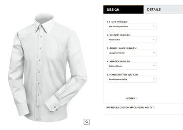 Lasse dir dein individuelles Hemd bei Eterna schneidern