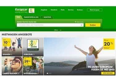 LKW und PKW reserviert ihr besonders günstig bei Europcar