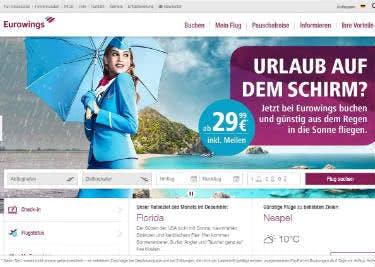 Entdecke günstige Flüge bei Eurowings