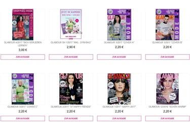 Regelmäßig erscheinen neue Ausgaben der Glamour